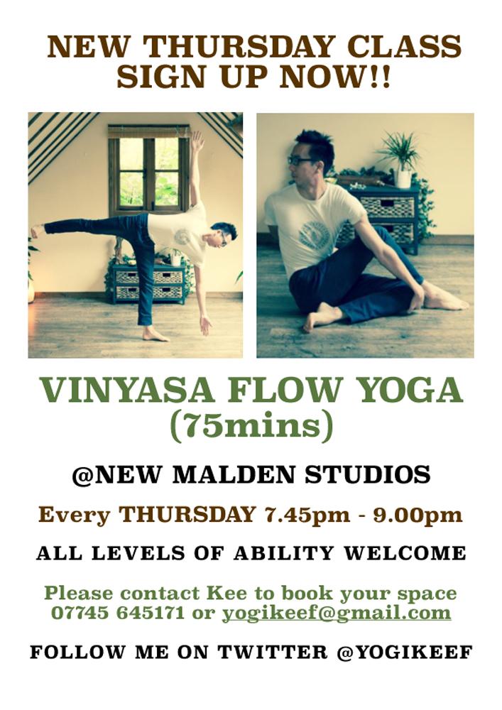 New Malden Studios   Thursday Vinyasa Flow Yoga
