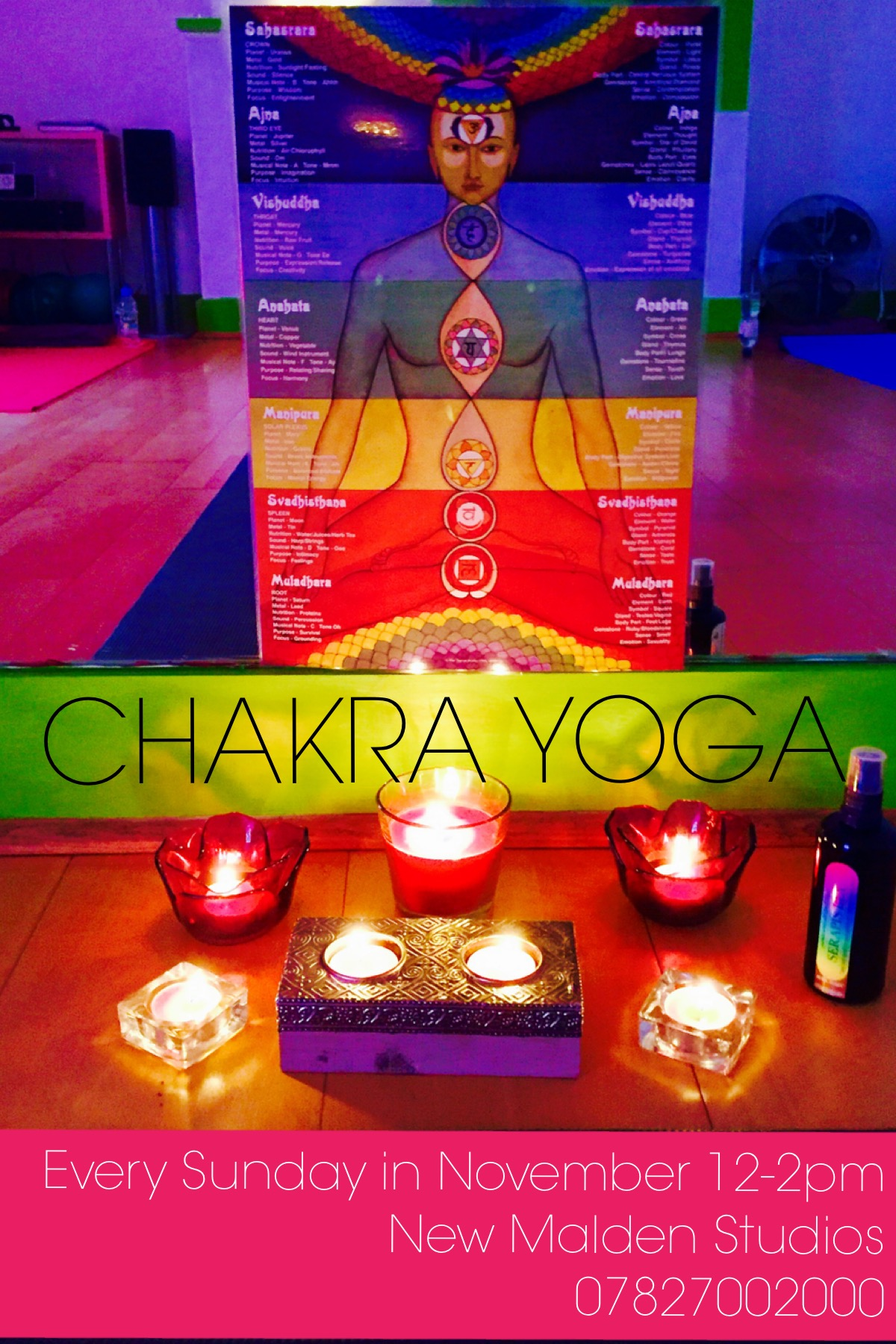 New Malden Studios | Chakra Yoga November 2016